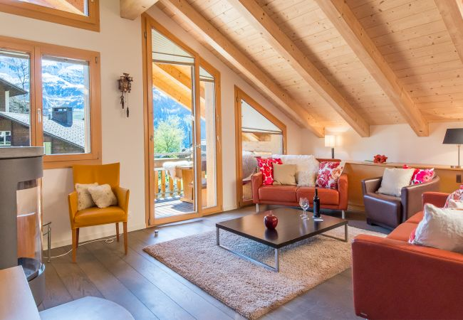 Wengen Chalet Luna offers this penthouse apartment by Alpine Holiday Services.